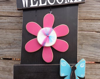 Porch Decor- Seasonal Decor- Welcome Sign- Interchangeable Welcome Shutter
