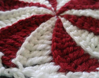 Peppermint candy Christmas throw