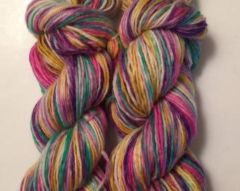 SALE** Hand Dyed Yarn worsted weight 100% superwash merino wool | 100 grams | Primrose Everdeen