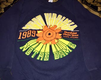 1989 WVU vs Notre Dame Fiesta Bowl Crewneck, XS