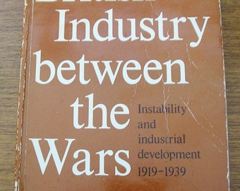Vintage history book British Industry Between the Wars Instability and Industrial Development Buxton Aldcroft 1980s soft back book 14