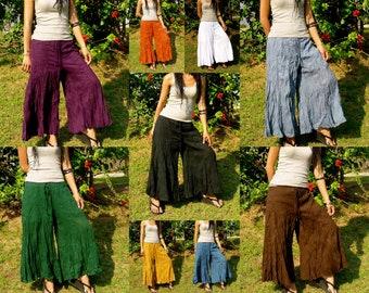 Plus Size Palazzo Pants Wide Leg Trousers Palazzo Oversize Pants Baggy Pants Oversize Wide Legged Pants Summer Women Pants * KM-Plus