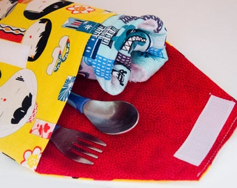 Japanese Inspired Diaper Clutch,  Diaper Wallet, Diaper Organizer, Baby Boutique, Baby Gift, Infant Organizer, Geisha Pouch, Keeper