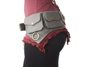 Utility Belt,Festival,Fanny Pack,Pocket Belt.Travel Money Belt,Hip Belt,Burning Man,Steampunk,Hip Belt.Fits iPhone 7Plus/SAMSUNG GALAXY S7H
