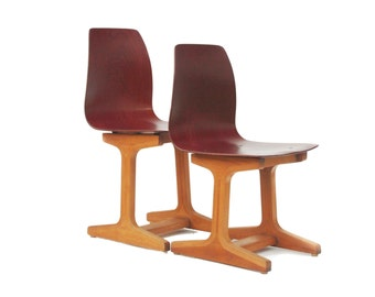 """2 chairs for children school chairs """"Ass"""" 1960s"""