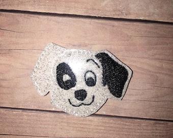 Set of 4 101 Dalmatians Felties Dog Dogs Head Dalmatian Feltie Felt Embellishment Bow! Birthday Party Felties Planner Clips Clip Cruella