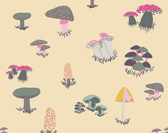 Agaricus Forest Froth, Fantasia by Sara Lawson for Art Gallery Fabrics 6177