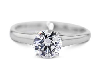 14K White Gold Diamond Solitaire Engagement Ring Natural 1.59 Carat  D/SI2 #J73173 FREE SHIPPING