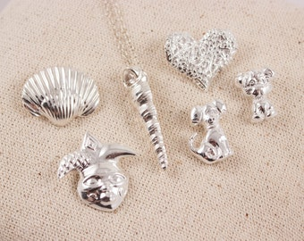 Choice of Fine silver pendant PMC