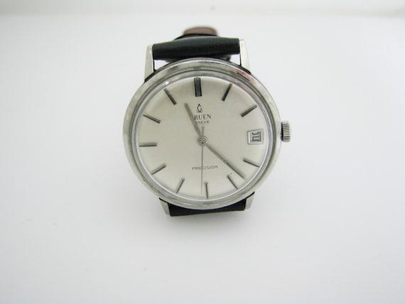 handsome retro 1960 39 s gruen geneve precision watch in. Black Bedroom Furniture Sets. Home Design Ideas