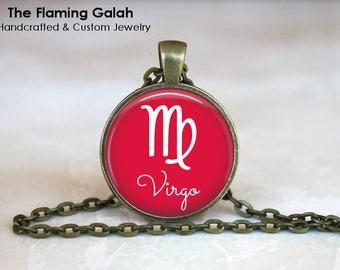 VIRGO Pendant • September Birth Sign • September Star Sign • Virgo Astrology • Virgo Jewelry • Gift Under 20 • Made in Australia (P0575)