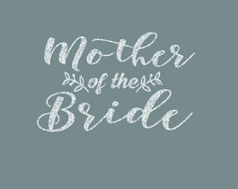 Mother of the Bride Leaves of Love Iron On Decal