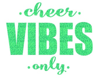 Cheer VIBES Only Iron On Decal