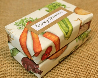 Wrapped Soap Gift Set: Two Large Bars of Goat Milk Soap in Specialty Vegetable Paper
