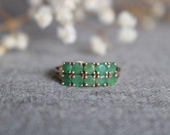 10 karat Erinite Gem Cluster Woman Ring Size 9.5