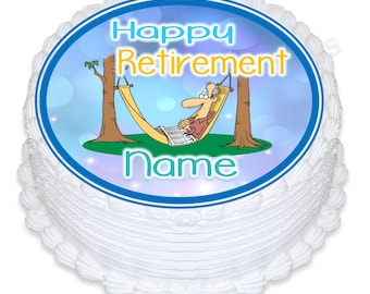 "ND3 retirement round 7.5"" icing cake topper"
