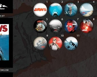 Collection plates shark / / Jaws button collection