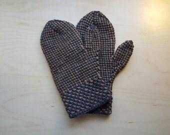 Mittens, tunisian crochet