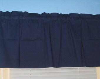 Handmade SOLID 100% Cotton Lavender Burgundy  Window Curtain Valance