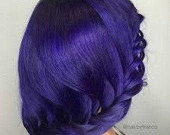"Pulp Riot ""velvet"" purple hair dye color punk mermaid semi permanent"