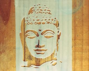 Buddha STENCIL for home wall interior decor / reusable religious stencil