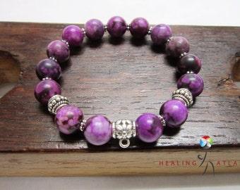 Suglilite Bracelet Purple Charm Bracelet Suglilite All Chakra Suglilite Bracelet Suglilite Meditation Yoga Bracelet Purple Sugilite Charm