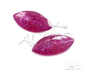 1pcs 10x5mm Fuchsia Ice Cubic Zirconia, Marquise Facet, Faceted CZ, Brilliant Cut/Diamond Cut, Fuchsia Color Ice CZ, SR13B