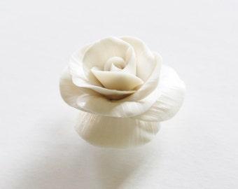 Decorative  Porcelain Flower - White Porcelain Rose  - Home Gift -  Home Decor, Decorative Ornament....