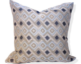 Decorative Pillow Cover, Robert Allen Hombre Chambray