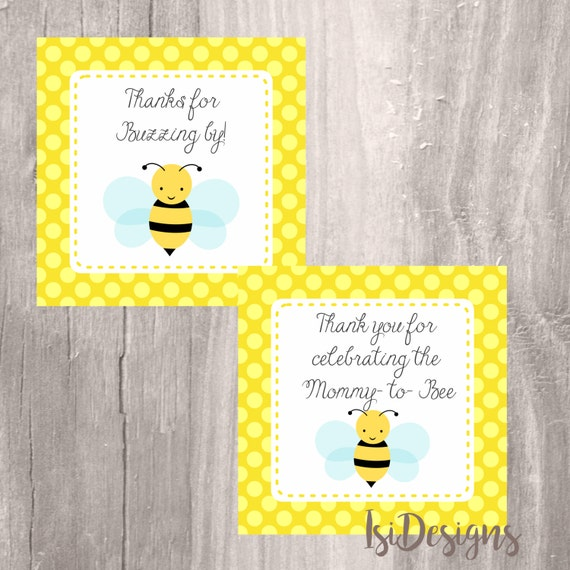 Bumble Bee Printable Favor Tags Instant Download Baby Shower Thank You Mommy To From IsiDesigns On