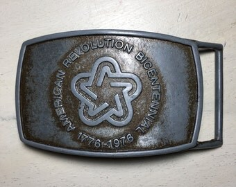 American revolution  bicentennial administration belt buckle 1976 Lee Co. NY