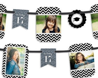 Tassel Worth The Hassle - Silver - Graduation Party Photo Garland Banner - Custom Grad Party Decorations