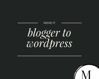 Blogger to WordPress Transfer, full package