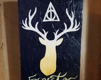 Harry Potter inspired Stag mixed media art wall hanging expecto patronum