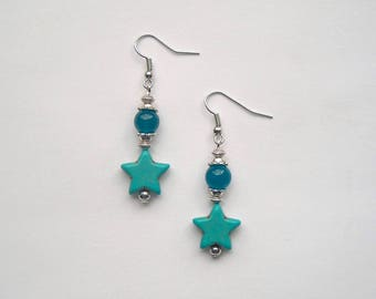 "Earrings ""Blausternchen"" Jade turquoise"