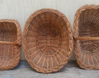 Wonderful Trio of French Country Baskets!