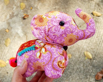 Elephant doll, Stuffed elephant, Elephant plush doll, Elephant toy