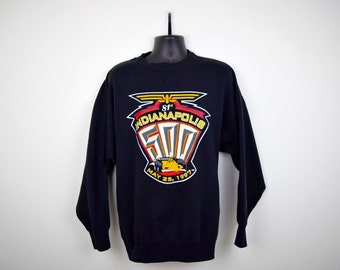 1990s Indianapolis 500 Crew Neck Sweatshirt / Nascar / Black / Size XL / May 25th 1997 / Race Car /