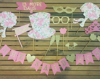 Prop SET • Bridal Shower Photo Booth
