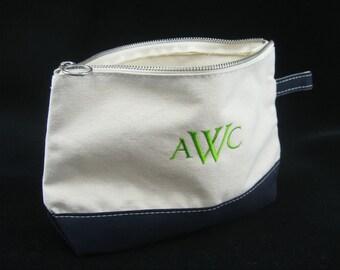 Monogram Makeup Bag - Personalized Makeup Bag - Monogram Clutch - Personalized Clutch - Cosmetic Bag - Embroidered Clutch