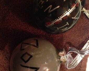Zombie brains ornaments (set of 2)