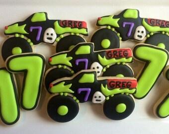 Monster Truck Cookies - One Dozen