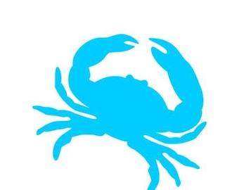 crab Vinyl decal - crab car decal - Home crab tumbler decal