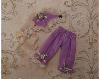 Haute Couture 'Lilac Dream' Corset & Knickers set for Blythe or similar sized dolls