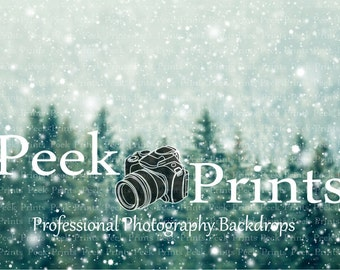 7ft.x5ft. Everest Vinyl Photography Backdrop- Christmas Backdrops - Evergreen Backdrop