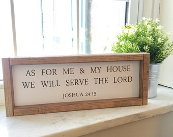 As for me and my house we will serve the Lord | Joshua 24:15