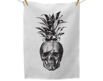 Pineapple Skull Tea Towel