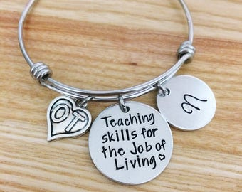 Occupational therapy gifts, Hand stamped bracelet, Personalized gift for OT, Occupational therapy, Graduation gift for OT, OT bracelet