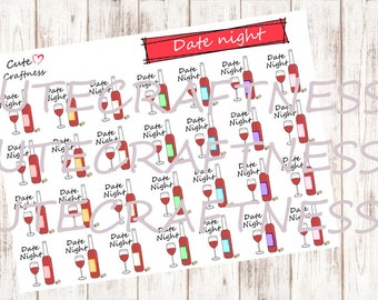Date night stickers planner