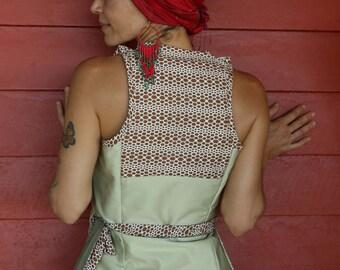 Cotton/silk Wrap Top